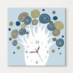 iy351-동글몽글나무노프레임벽시계