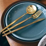 Gold slim line cutlery