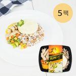 런잇도시락 닭가슴살&레드퀴노아밥 5팩