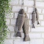 나무 물고기 장식-대