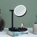 프리미엄 LED 조명 탁상거울 - 블랙