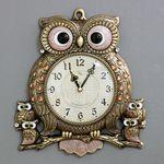 (kspz225)스틸리아 부엉이 시계 골드